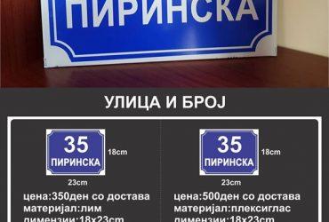 Улица и број